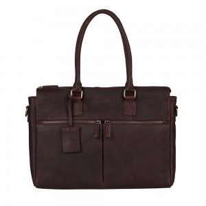 Dámská kožená kabelka Burkely Valerie - tmavě hnědá