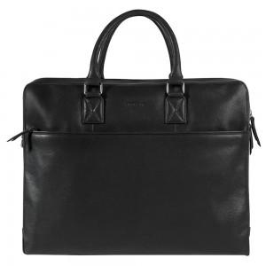 Pánská kožená taška na notebook Burkely Maxvel - černá