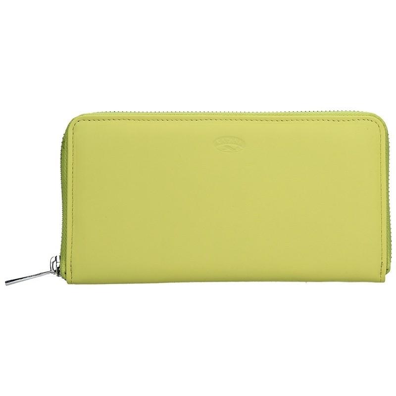 Dámská kožená peněženka Katana Olga - žlutá
