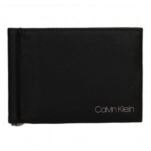 Pánská kožená dolarovka Calvin Klein Elias - černá