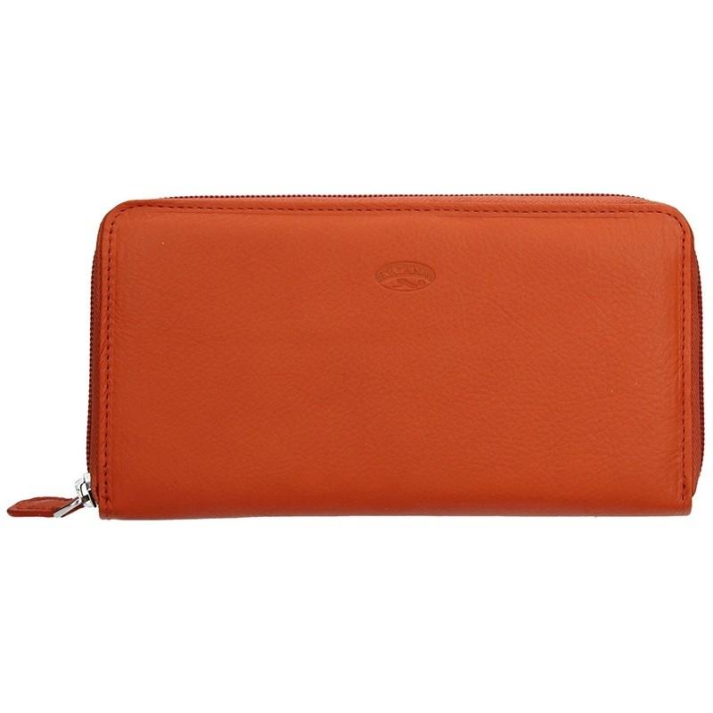 Dámská kožená peněženka Katana Olga - oranžová