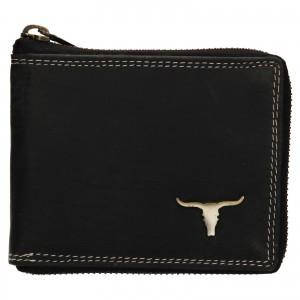 Pánská kožená peněženka Wild Buffalo Neuron - černá