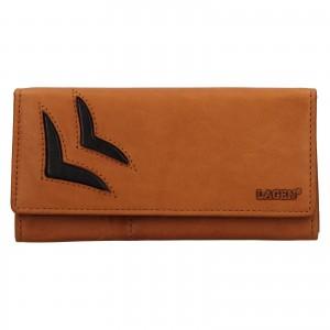 Dámská kožená peněženka Lagen Selest - koňak
