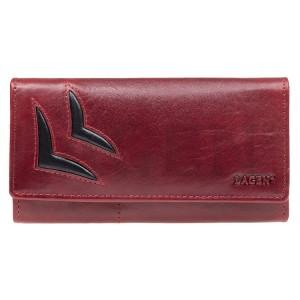 Dámská kožená peněženka Lagen Selest - červeno-černá