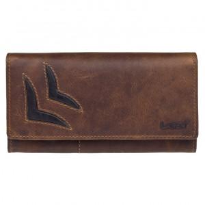Dámská kožená peněženka Lagen Selest - hnědá