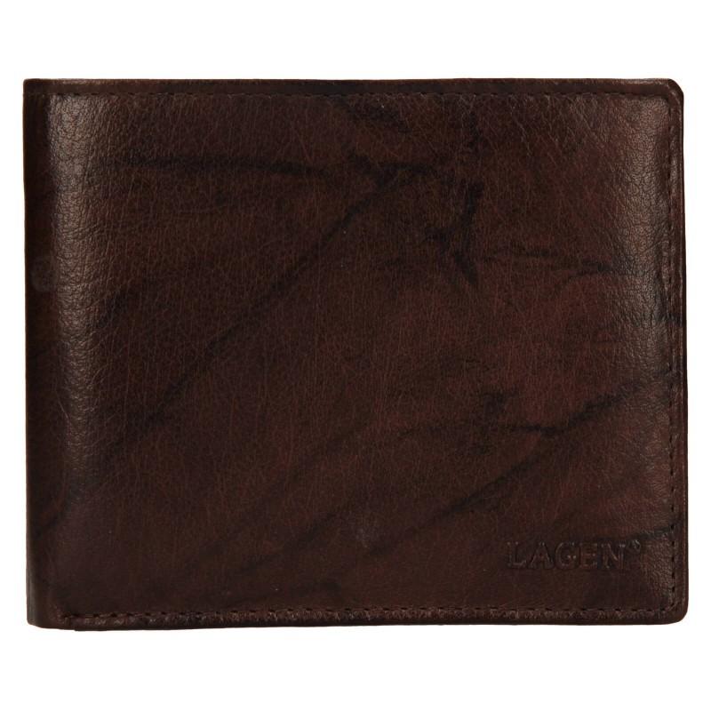 Pánská kožená peněženka Lagen Niklas - hnědá