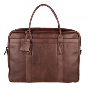 Pánská kožená taška na notebook Burkely Dominic - hnědá