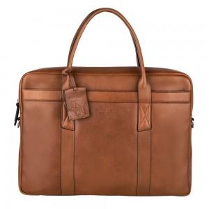 Pánská kožená taška na notebook Burkely Dominic - koňak