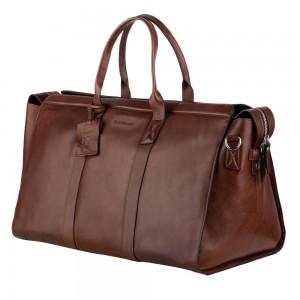 Kožená cestovní taška Burkely Weekender - černá