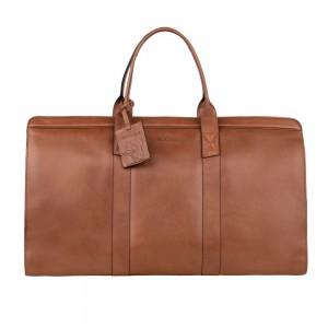 Kožená cestovní taška Burkely Weekender - koňak