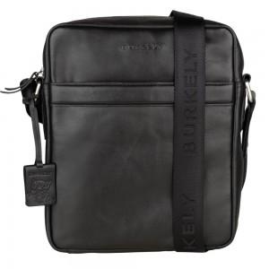 Pánská kožená taška přes rameno Burkely Kavins - černá