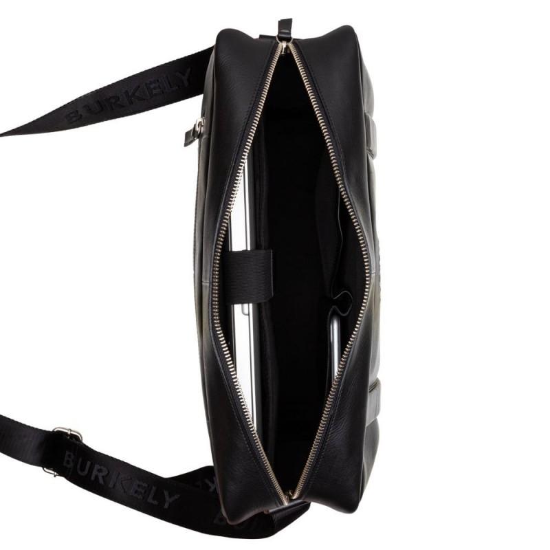 Pánská kožená taška přes rameno Burkely Laurel - černá