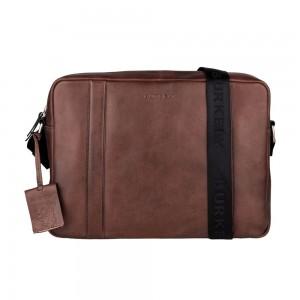 Pánská kožená taška přes rameno Burkely Laurel - hnědá