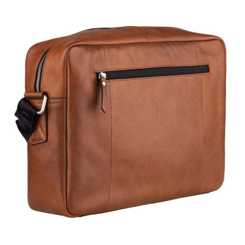 Pánská kožená taška přes rameno Burkely Laurel - koňak
