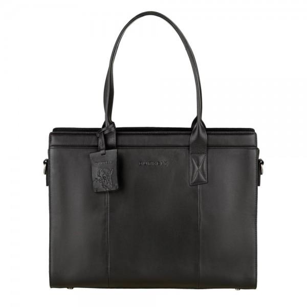 Dámská kožená kabelka Burkely Lenna - černá