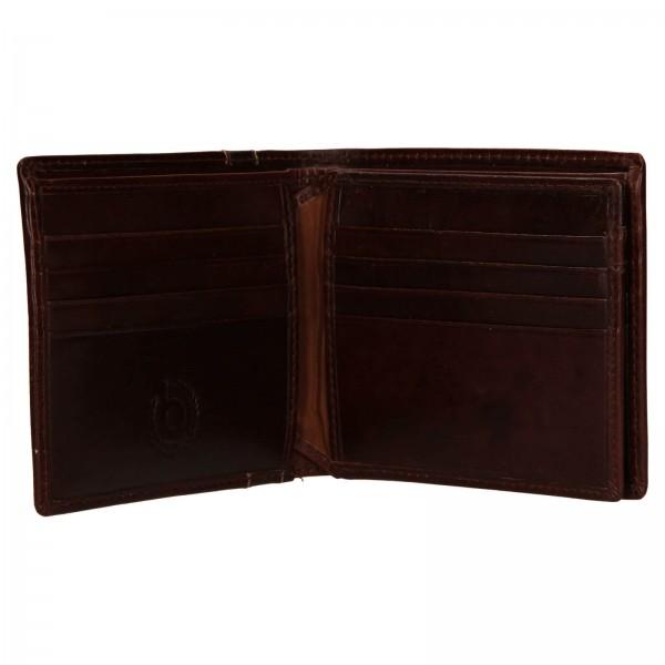 Pánská kožená peněženka Bugatti Gola - hnědá