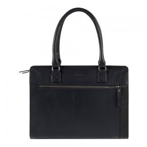 Dámská kožená kabelka Burkely Dennis - černá