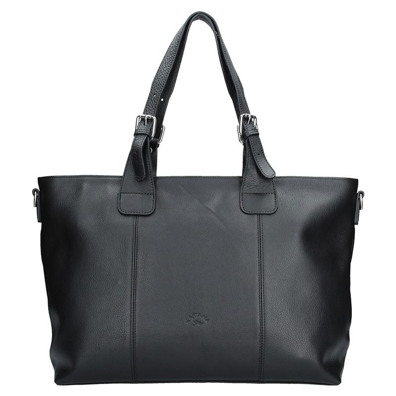 Elegantní dámská kožená kabelka Katana Silvia - černá