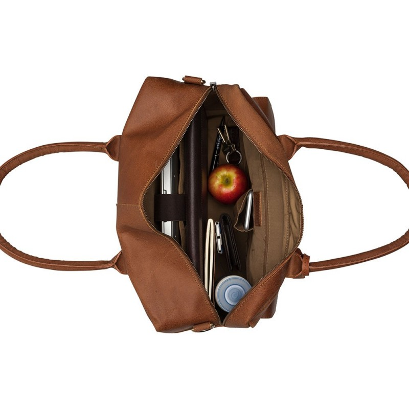 Pánská kožená taška na notebook Burkely Elen - černá