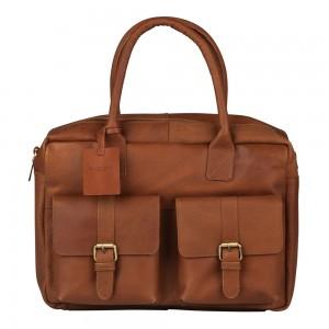 Pánská kožená taška na notebook Burkely Elen - koňak