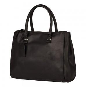 Dámská kožená kabelka Burkely Alice - černá