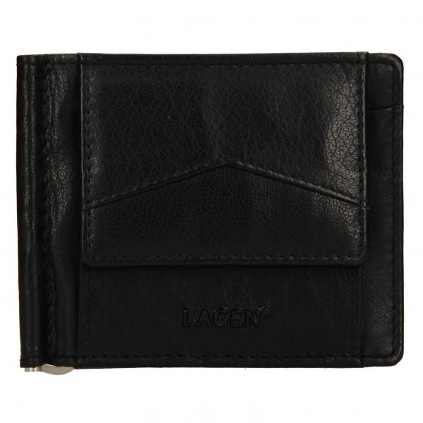 Pánská kožená dolarovka Lagen Picard - černá