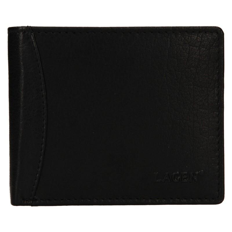 Pánská kožená peněženka Lagen Felixe - černá