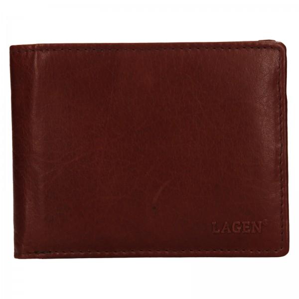 Pánská kožená peněženka Lagen Alexej - hnědá