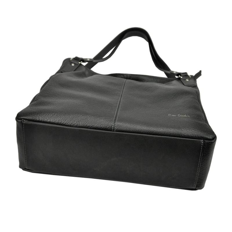 Dámská kožená kabelka Pierre Cardin Alice - béžová
