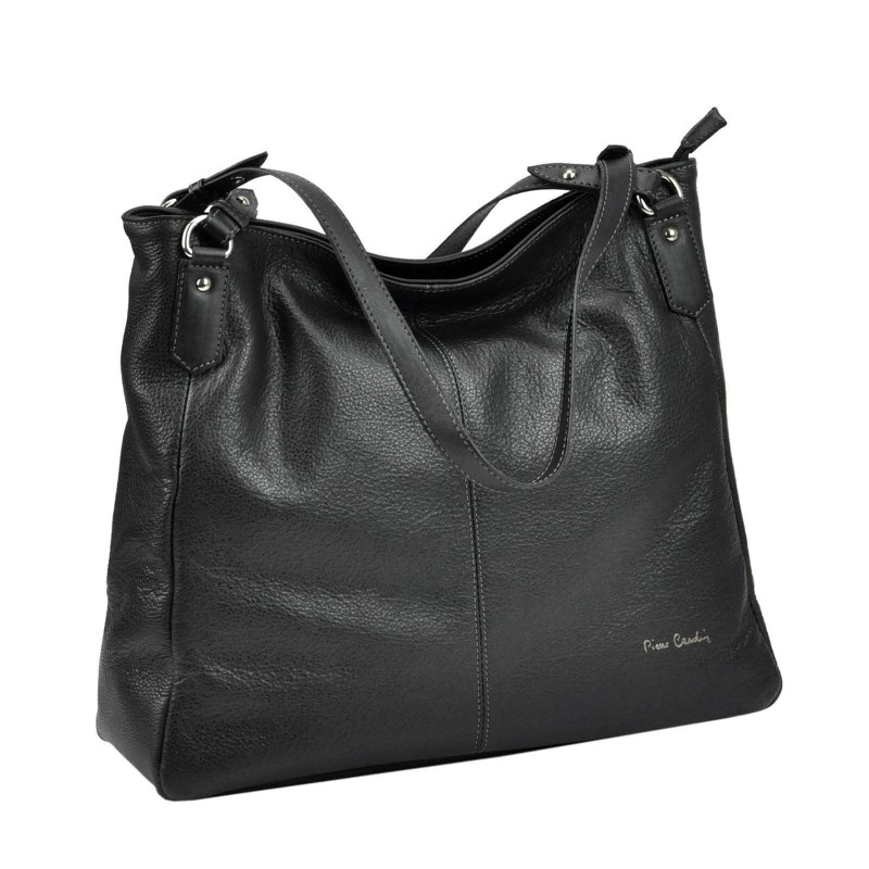 Dámská kožená kabelka Pierre Cardin Alice - černá