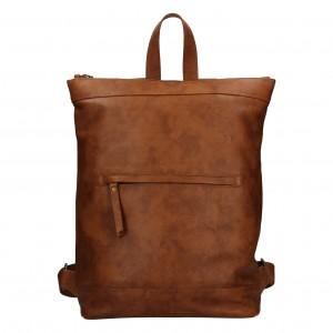 Kožený batoh Facebag Luciens - koňak