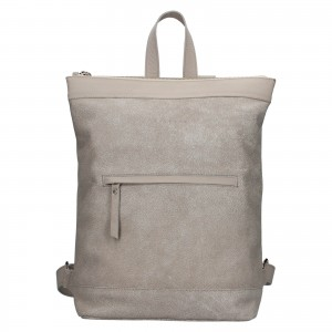 Kožený batoh Facebag Luciens - šedá