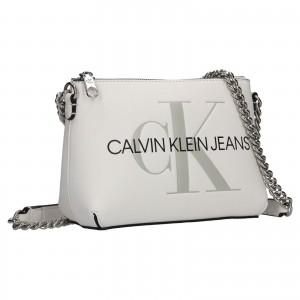 Dámská crossbody kabelka Calvin Klein Jeans Norra - bílá