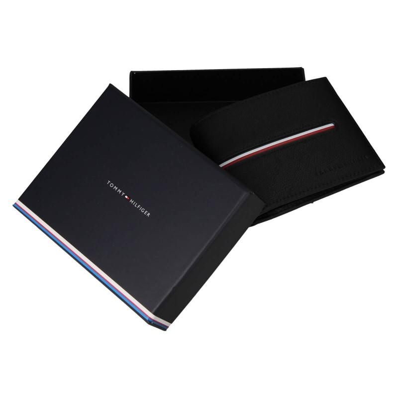 Pánská kožená peněženka Tommy Hilfiger Heinz - černá