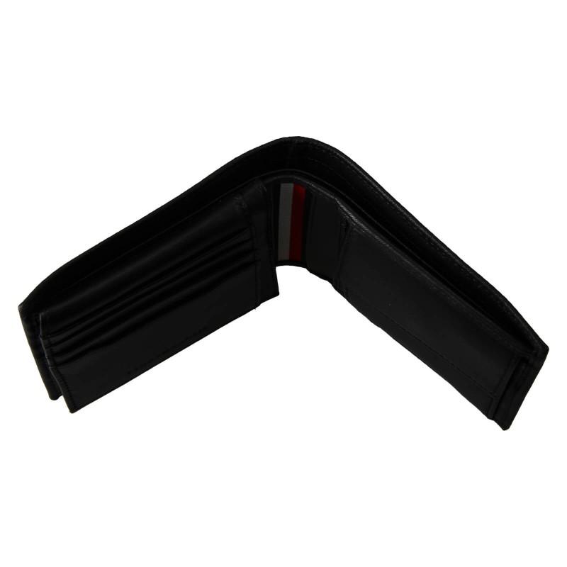 Pánská kožená peněženka Tommy Hilfiger Bruno - černá