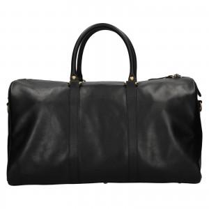 Kožená cestovní taška Facebag Davis - černá