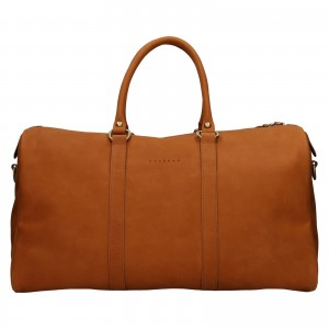 Kožená cestovní taška Facebag Davis - světle hnědá