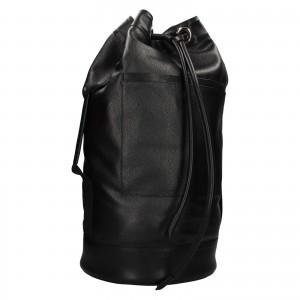 Kožený lodní vak facebag Bounty - černá