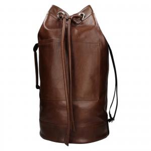 Kožený lodní vak facebag Bounty - koňak