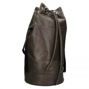 Kožený lodní vak facebag Bounty - hnědo-zelená