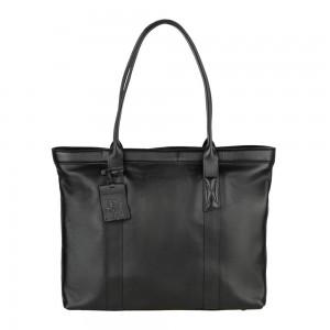 Dámská kožená kabelka Burkely Wide - černá