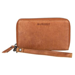 Dámská kožená peněženka Burkely Wristlet - hnědá