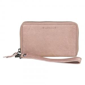 Dámská kožená peněženka Burkely Wristlet - růžová
