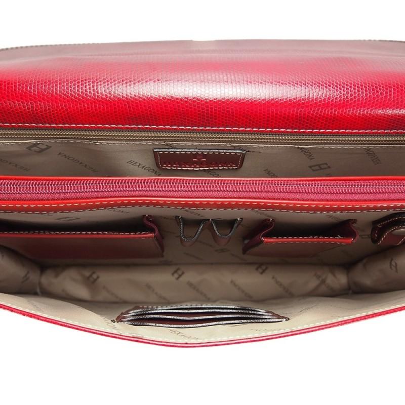 Dámská aktovna Hexagona 890477 - červená