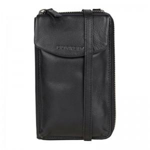 Dámská kožená peněženko-kabelka Burkely Ghita - černá