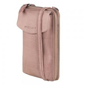 Dámská kožená peněženko-kabelka Burkely Ghita - růžová
