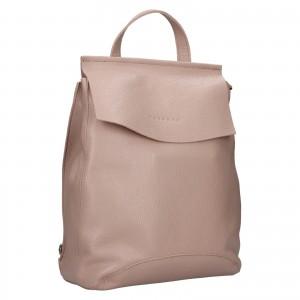 Dámský kožený batoh Facebag Stella - světle růžová
