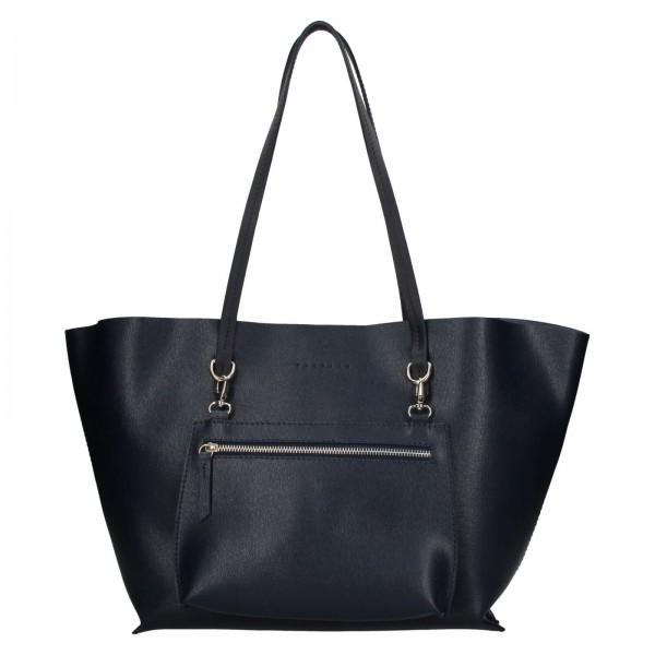 Dámská kožená kabelka Facebag 2v1 - tmavě modrá