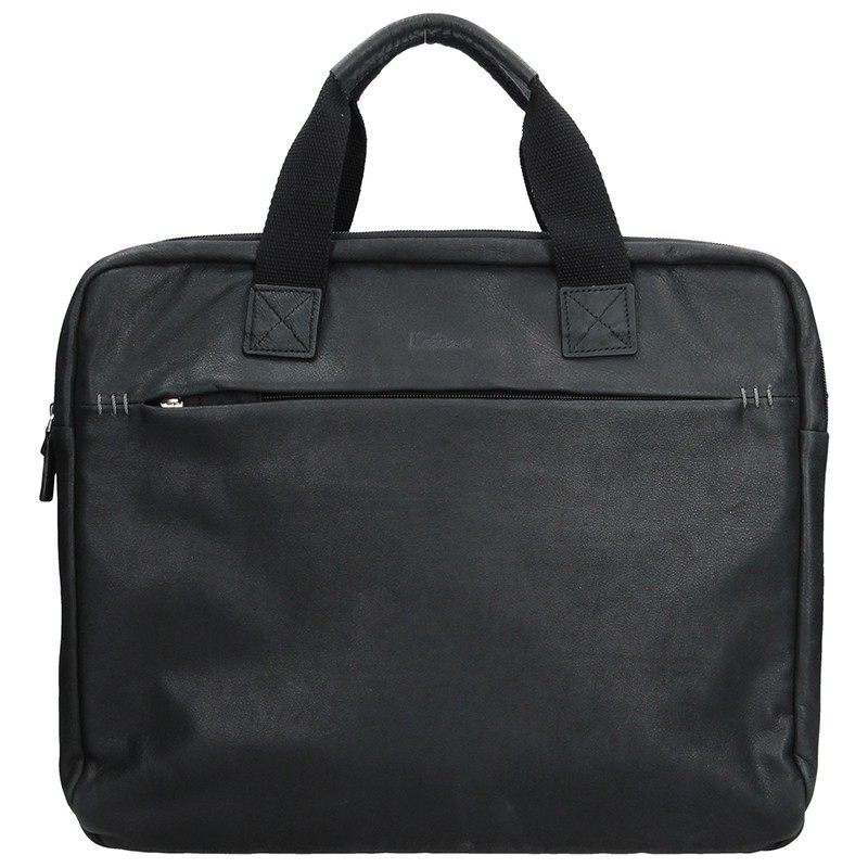 Pánská kožená taška přes rameno Katana Malven - černá
