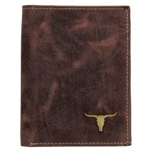 Pánská kožená peněženka Wild Buffalo Štěpán - hnědá